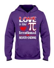 Math Teacher - Love is like Pi Hooded Sweatshirt thumbnail