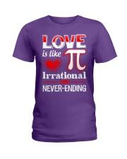 Math Teacher - Love is like Pi Ladies T-Shirt thumbnail
