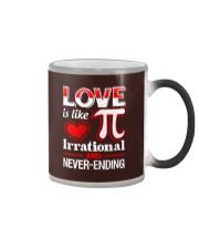 Math Teacher - Love is like Pi Color Changing Mug thumbnail