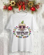 Teacher life got me feeling un Poco Loco Premium Fit Mens Tee lifestyle-holiday-crewneck-front-2