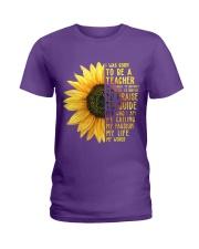 I was born to be a Teacher  Ladies T-Shirt thumbnail