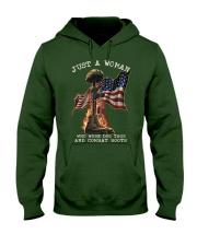 Veteran Just a Woman Hooded Sweatshirt thumbnail