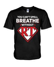Respiratory - RT V-Neck T-Shirt thumbnail