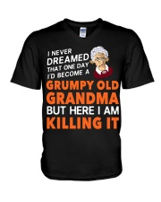Grumpy Old Grandma V-Neck T-Shirt thumbnail
