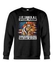 Firefighter It Takes Crewneck Sweatshirt thumbnail