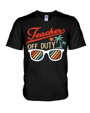 TEACHER OFF DUTY V-Neck T-Shirt thumbnail