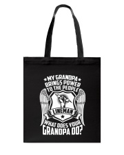 My Grandpa  - Lineman Tote Bag thumbnail