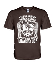 My Grandpa  - Lineman V-Neck T-Shirt thumbnail
