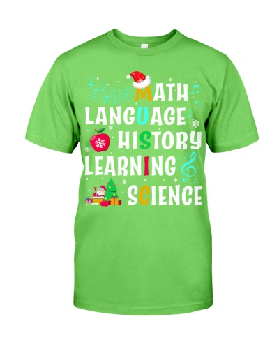 Music Teacher - Cross Words - Christmas shirt
