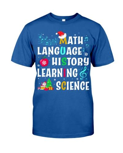 Music Teacher - Cross Words - Christmas shirt
