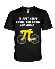 Pi Day - It just keeps going V-Neck T-Shirt thumbnail