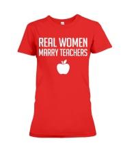 Real Women Marry Teachers Premium Fit Ladies Tee thumbnail