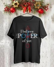 Math Teacher - Believe in the Power of Yet Classic T-Shirt lifestyle-holiday-crewneck-front-2