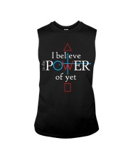 Math Teacher - Believe in the Power of Yet Sleeveless Tee thumbnail