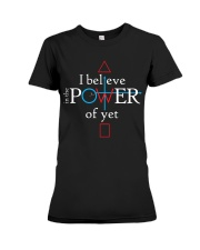 Math Teacher - Believe in the Power of Yet Premium Fit Ladies Tee thumbnail