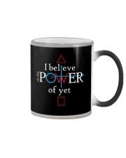 Math Teacher - Believe in the Power of Yet Color Changing Mug thumbnail