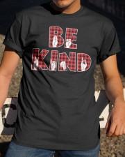 SPEDUCATOR - BE KIND - RED PLAID  Classic T-Shirt apparel-classic-tshirt-lifestyle-28