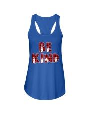 SPEDUCATOR - BE KIND - RED PLAID  Ladies Flowy Tank thumbnail