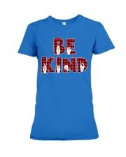 SPEDUCATOR - BE KIND - RED PLAID  Premium Fit Ladies Tee thumbnail