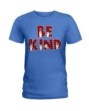 SPEDUCATOR - BE KIND - RED PLAID  Ladies T-Shirt thumbnail