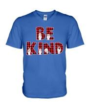 SPEDUCATOR - BE KIND - RED PLAID  V-Neck T-Shirt thumbnail