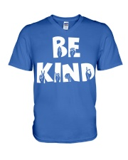 Special Education Teacher - Be Kind - Hand sign V-Neck T-Shirt thumbnail