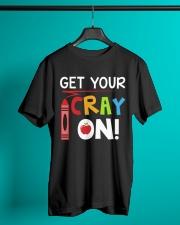 Teacher - Cray on Classic T-Shirt lifestyle-mens-crewneck-front-3