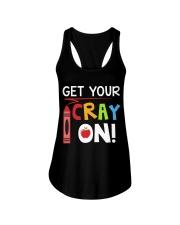 Teacher - Cray on Ladies Flowy Tank thumbnail