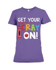 Teacher - Cray on Premium Fit Ladies Tee thumbnail