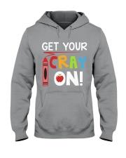 Teacher - Cray on Hooded Sweatshirt thumbnail