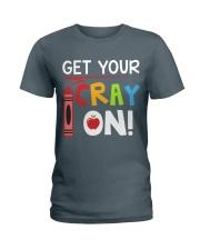 Teacher - Cray on Ladies T-Shirt front