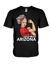 Arizona Strong Teacher - RedforED V-Neck T-Shirt thumbnail