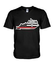 Nurse - Kentucky Flag Shirt V-Neck T-Shirt thumbnail