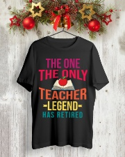 Retired Teacher - Legend Classic T-Shirt lifestyle-holiday-crewneck-front-2