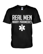Real Men Marry Paramedics V-Neck T-Shirt thumbnail