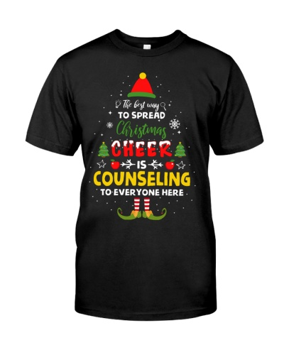 Counselor - Spread Christmas Cheer - Funny Shirt