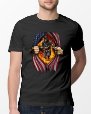 Firefighter American 2 2 Classic T-Shirt lifestyle-mens-crewneck-front-13