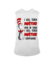 Math Teacher teach everywhere Sleeveless Tee thumbnail