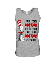 Math Teacher teach everywhere Unisex Tank thumbnail