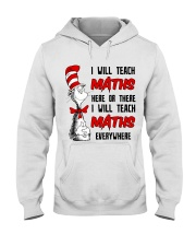 Math Teacher teach everywhere Hooded Sweatshirt thumbnail