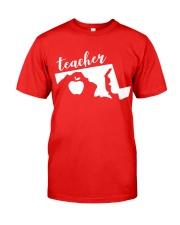 Maryland Teacher - Map Classic T-Shirt front