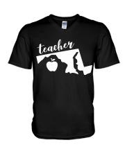 Maryland Teacher - Map V-Neck T-Shirt thumbnail