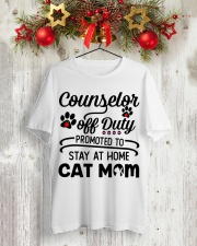 Counselor - Stay at Home Cat Mom Classic T-Shirt lifestyle-holiday-crewneck-front-2