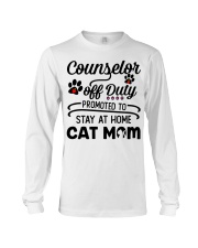 Counselor - Stay at Home Cat Mom Long Sleeve Tee thumbnail