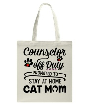 Counselor - Stay at Home Cat Mom Tote Bag thumbnail