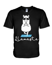 Llamaste - Yoga V-Neck T-Shirt thumbnail