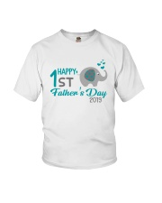 Happy First Grade Father's Day Youth T-Shirt front