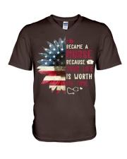 Nurse - July V-Neck T-Shirt thumbnail