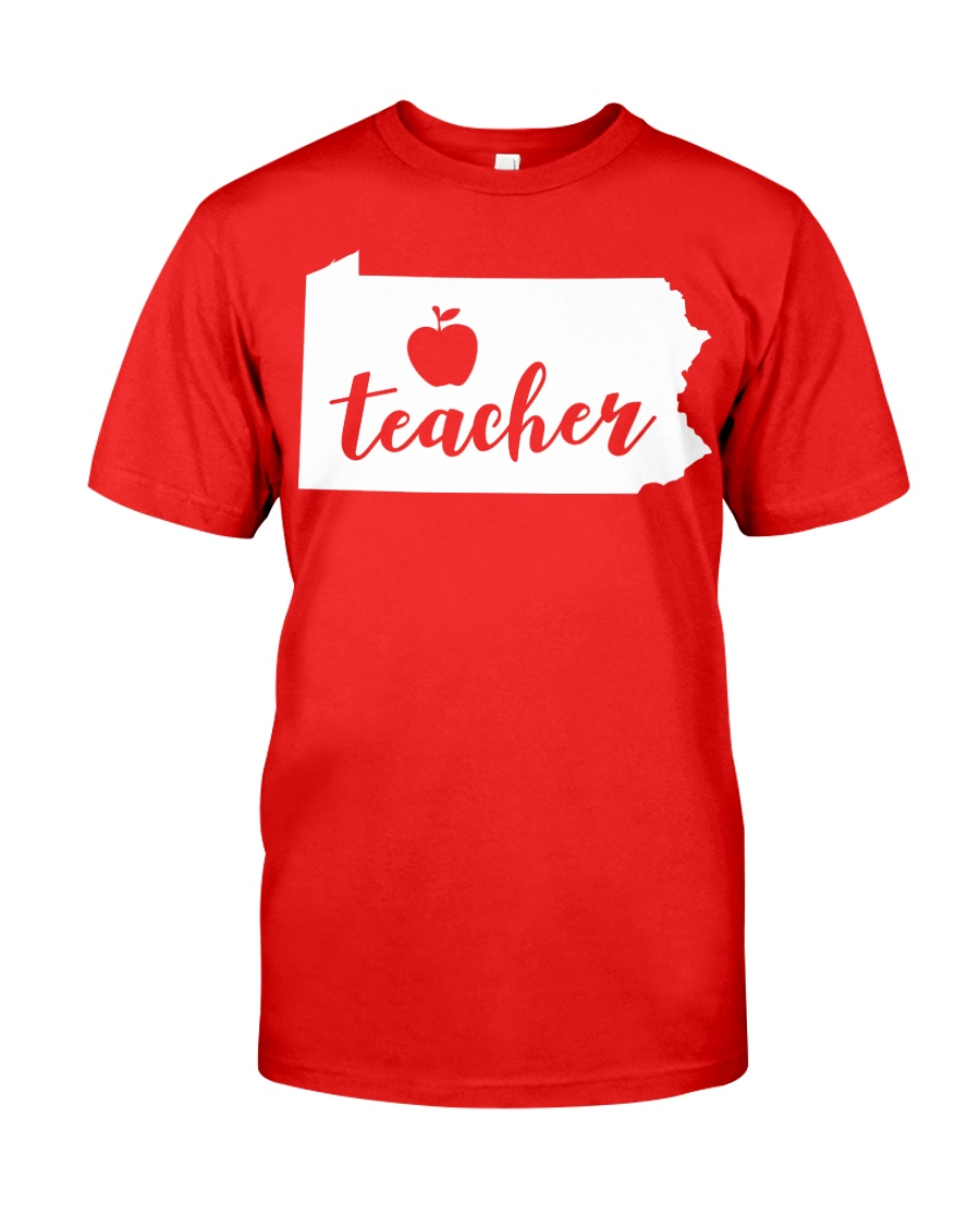 Pennsylvania Teacher - Map Classic T-Shirt