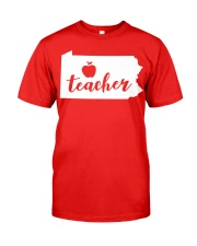 Pennsylvania Teacher - Map Classic T-Shirt front